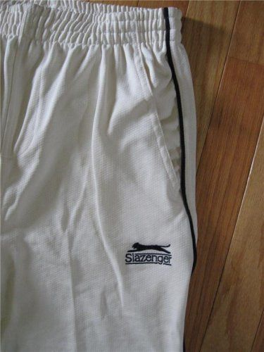 Men's Off-White Slazenger Cricket Pant Trouser:L at Amazon Men's Clothing store: Athletic Pants