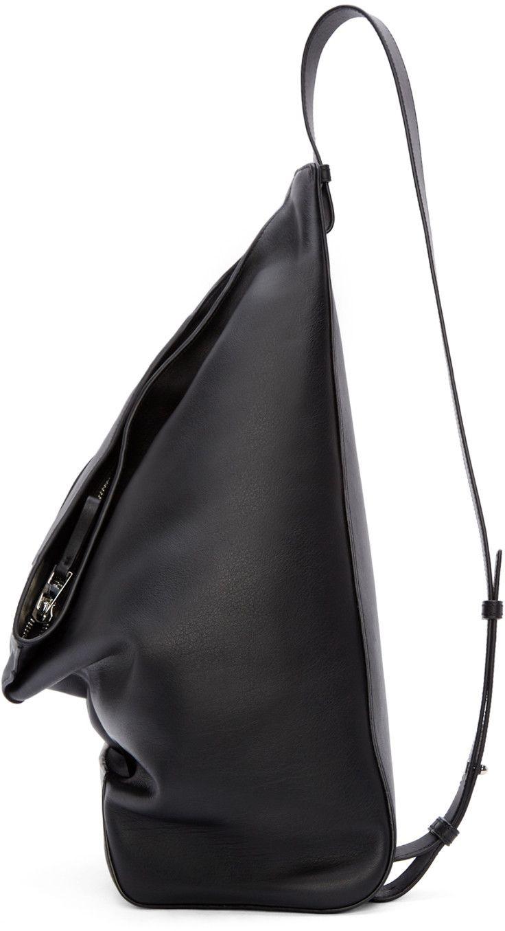 Loewe Black Leather Crossbody Backpack