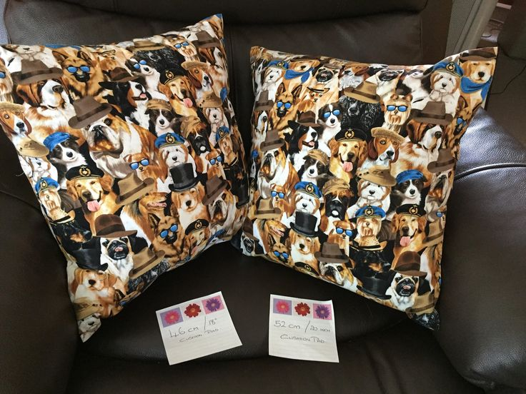 Large cushion cover, cotton cushion cover , dog fabric cushion cover 18/20inch cushion will fit by Bellasbananas on Etsy