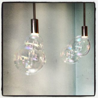 These lamps by Booo make soap bubbles!