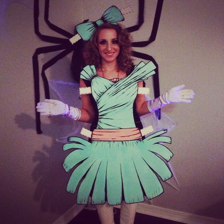 Home made paper doll costume