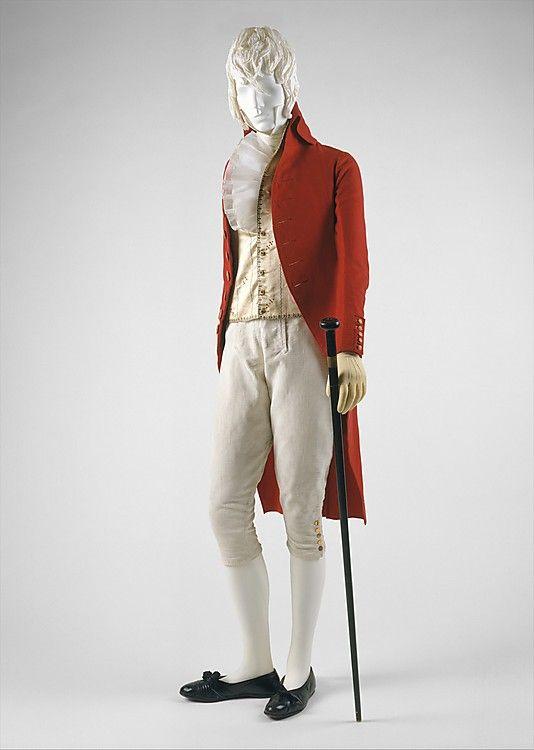 Man's Coat, French, 1787. Metropolitan Museum of Art.