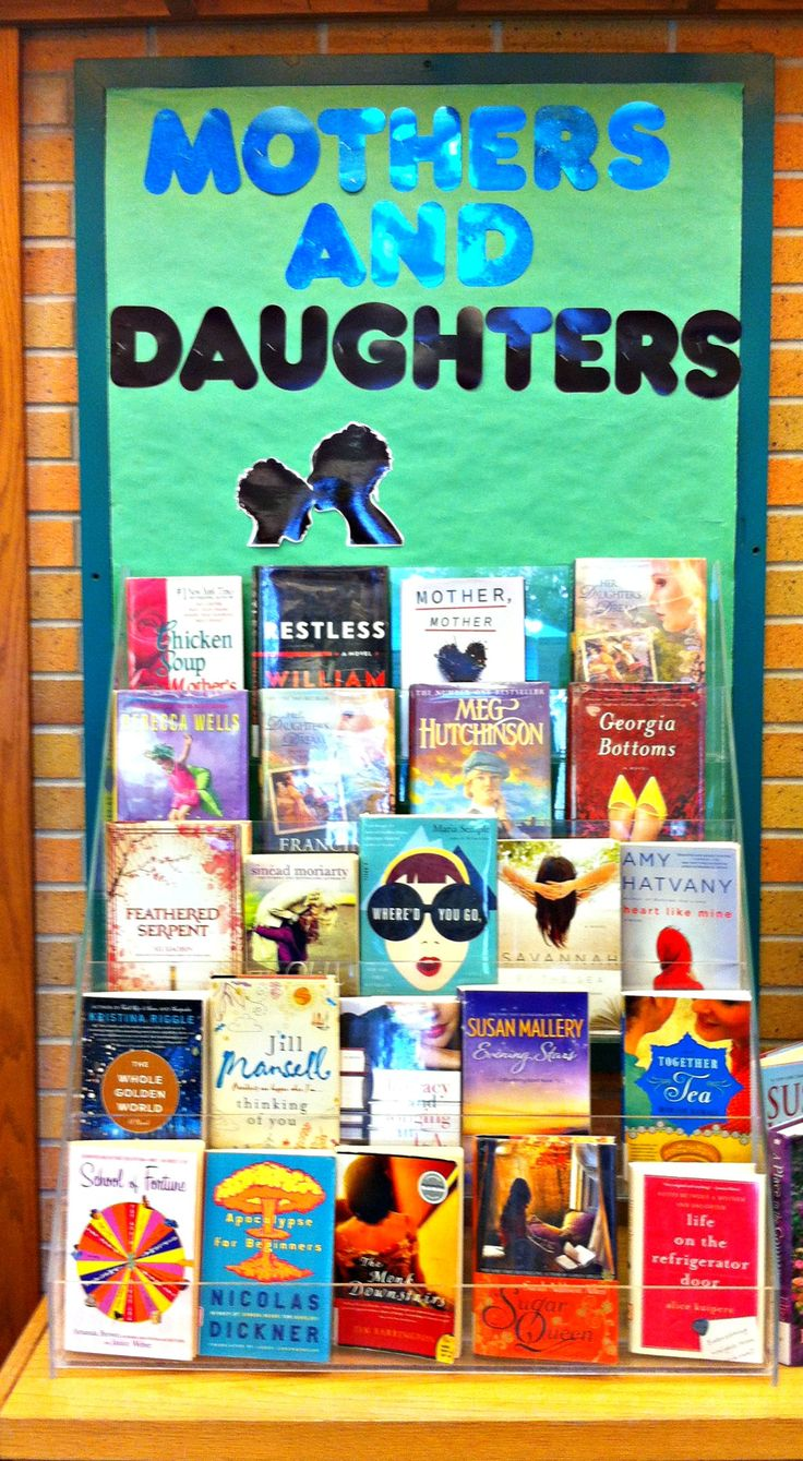 Mothers and Daughters display Idea - for mothers day or anytime ! From Brantford Public Library