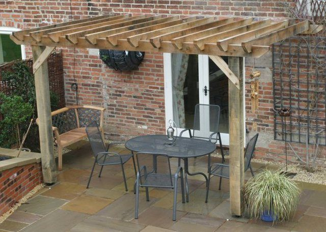 This small pergola would be great for our future backdoor. (Can you believe  our house does NOT have a back door?) - The 25+ Best Ideas About Pergola Attached To House On Pinterest