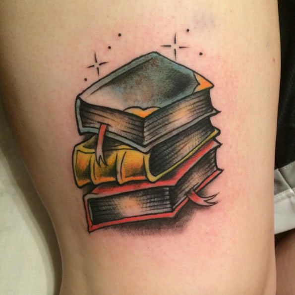 Book Tattoo Design by Mike McIntosh
