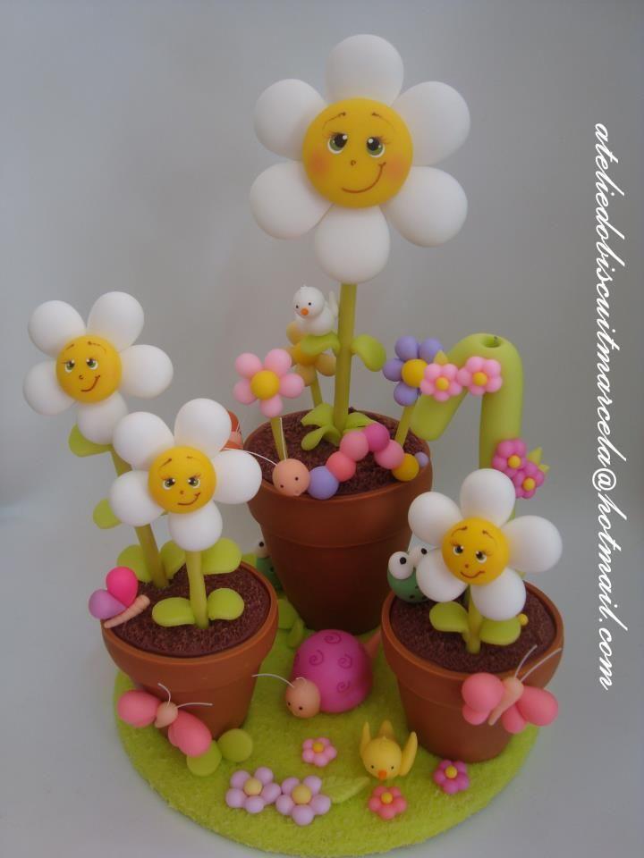 Fleurs en Fimo