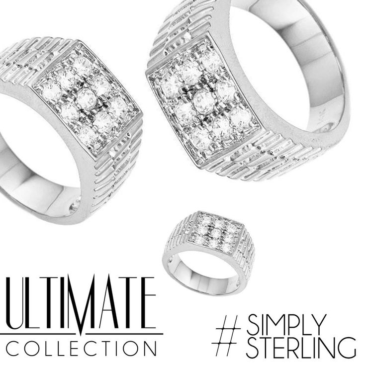 We are #simplysterling at #ultimatecollectionnyc!  #sterlingsilver #rings #iced #money #silver #newyork #nyc #nycstyle #bestlife #love #cute