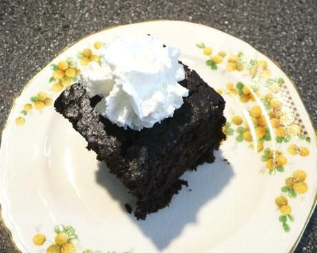 Chocolate vinegar cake....no eggs, no milk. My grandmother used to make this when I was young - delish!!