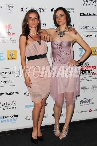 Melissa Mars & Salome Stevenin @ Festival Shopping Cannes 5/04/12  © Wireimage