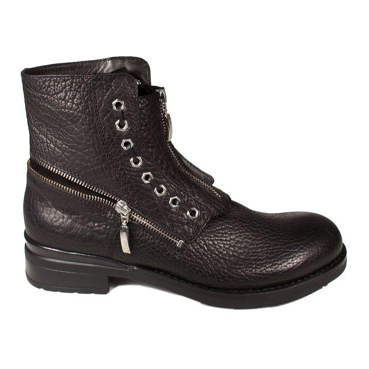 Cesare Paciotti Mens Shoes Black Boots