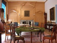 Queen Anne furniture in the Governor's Council Chamber of Independence Hall, Philadelphia, Pennsylvania. The chairs are attributed to William Savery.