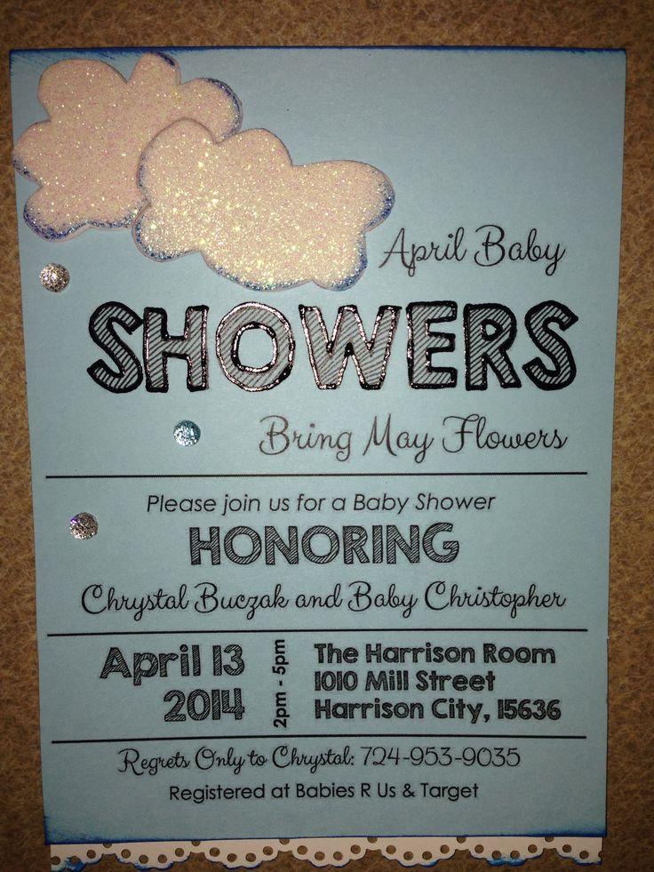 baby shower invitation wording for bringing diapers%0A April Baby Showers Bring May Flowers  baby shower invitation