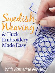 Once upon a time, women graced their homes with beautiful linens embellished with hand stitchery of all kinds. Tablecloths, napkins, runners, pillowcases, handkerchiefs and more were a point of pride among women with social standing. In the 1930s and '40s, Swedish weaving and huck embroidery were among the most popular needlecraft techniques. Five simple and easy-to-learn stitches make up this craft, and now you can learn them in just a little over one hour!
