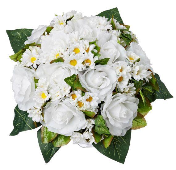 Margherita rosa Nosegay - seta Bridal Bouquet da sposa di seta