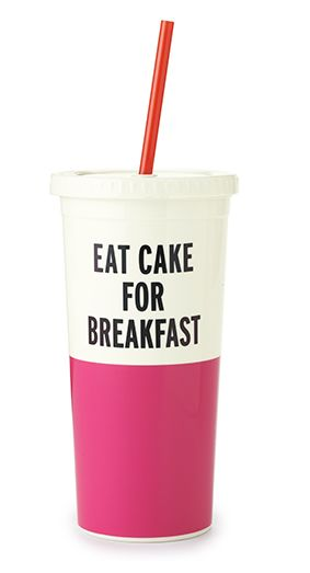 Kate Spade Tumbler - Eat Cake For Breakfast #kate-spade #new