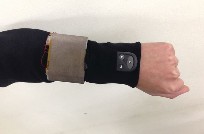 A game-changing foldable patch of fabric wrapped around a person's wrist can gather enough energy from arm movement to power small electronic devices, according to a new study by Sungkyunkwan University in South Korea.  Researchers say this advancement opens the door to clothing that can charge smart watches and cellphones while the wearer moves or walks around — a niche that could become increasingly popular with the proliferation of wearable technology.  Work It! Human-Powered Machines…