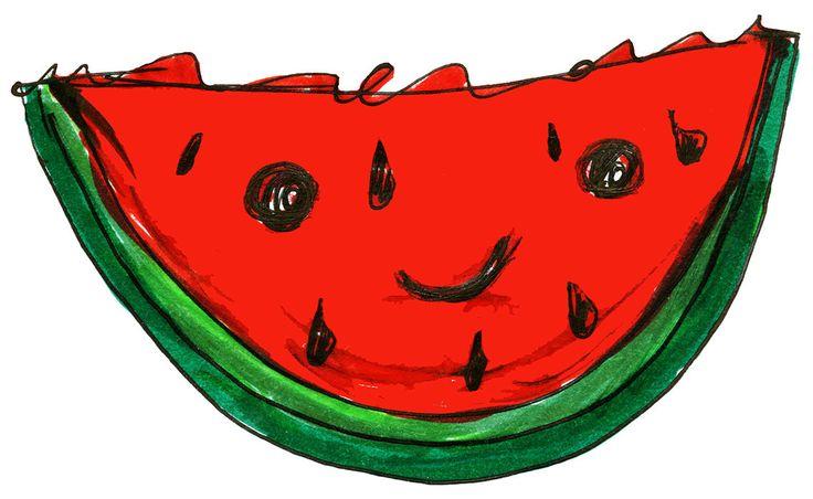 Cute Happy Watermelon Set of 4 Waterproof Temporary Tattoos