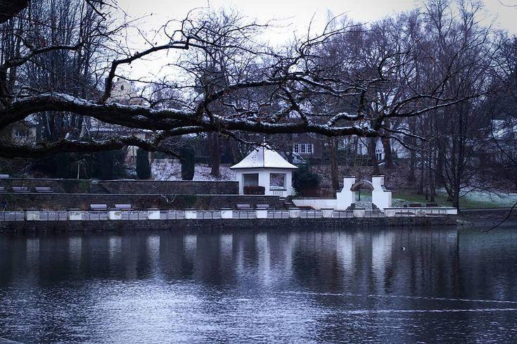 Hangeweiher im Winter . #aachen #pond #park #hangeweiher #winter #snow #cold #frozen #freezing #landscape #photographer #potd #picoftheday #photoblog #photooftheday #awesome #art #hiking #travel #wanderlust #adventure #sonyalpha #sonyalpha5000 #oldlens #canonfd50mm #vintage #keinsinn