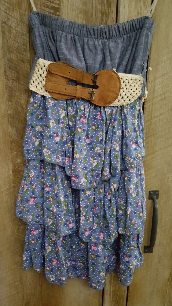 Rue21 womens juniors country dress cowgirl NEW size small  #rue21