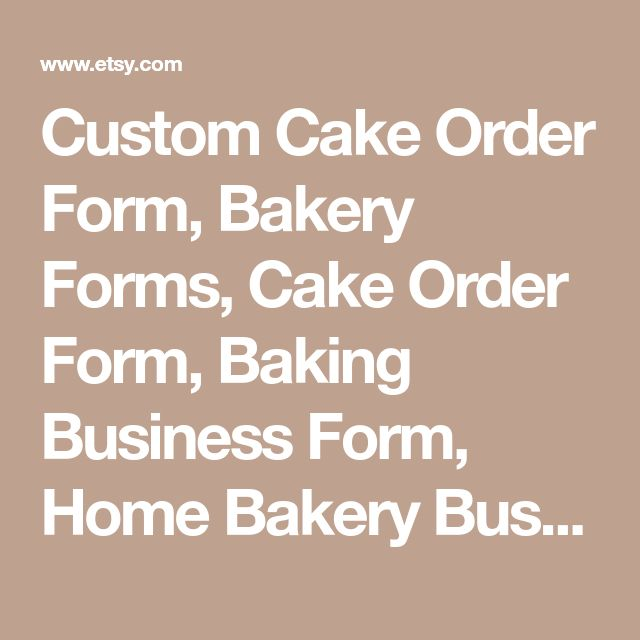 Best  Cake Order Forms Ideas On   Order Cake Cake