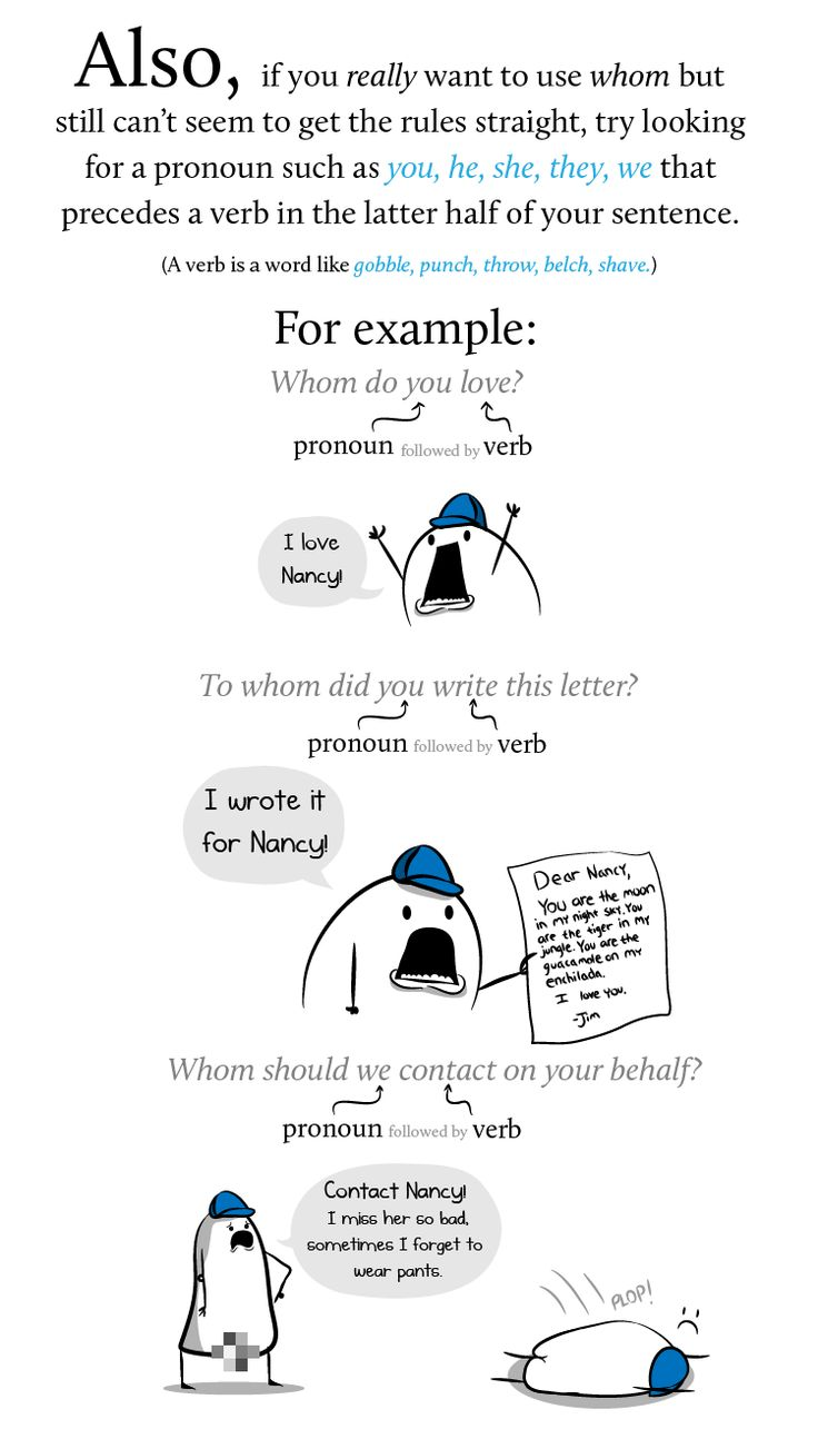 """Finally, A Comic That Explains How To Use """"Whom"""" In A Sentence Correctly!"""