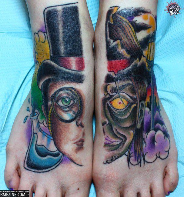 Jekyll and Hyde #Tattoos: Jekyl And Hyde, Dr. Jekyl, Skin Art, Sweet Tattoo'S, Body Modifications, Hyde Tattoo'S, Feet Tattoo'S, Ink, Literary Tattoo'S