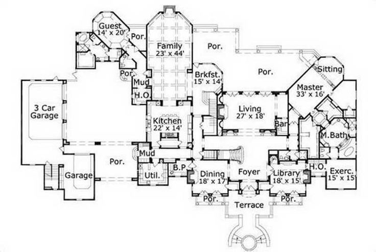 17 best images about floorplans on pinterest house plans for Executive ranch floor plans