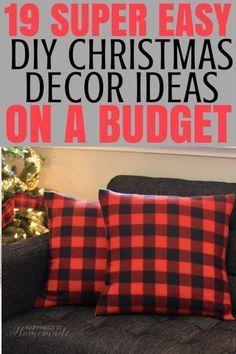 19 einfache DIY-Dekor-Weihnachtsideen auf einem Etat