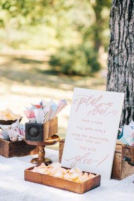 petal bar and cones to fill.  murray hill virginia wedding Astrid Photography (8) toss bar