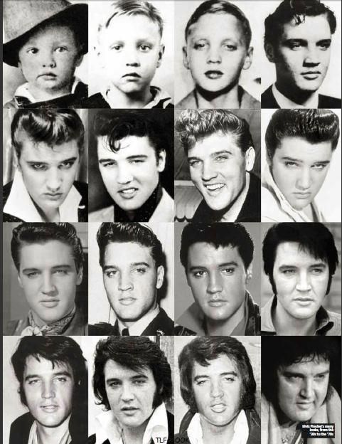 Elvis in 16 portraits life timeline