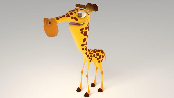 Giraffe, Víctor Bautista Fuentes on ArtStation at https://www.artstation.com/artwork/NYDXN