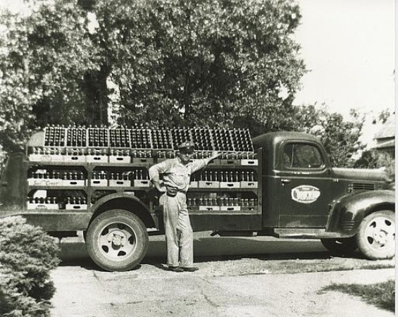 Cheerwine delivery truck in Salisbury, NC - 1939.