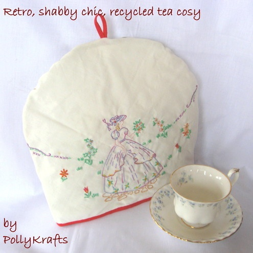 Crinoline tea cosy.