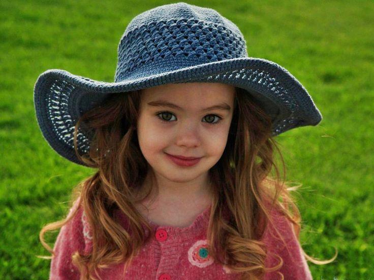 Cute Baby Girl Wearing Hat Babies