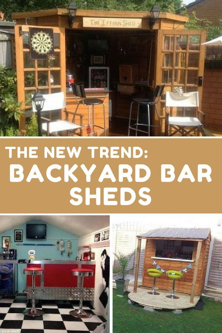 Forget Man Caves Backyard Bar Sheds Are The New Trend I Think This Is Just What I Need For My Backyard What Do Yo Bar Shed Backyard Bar Shed Backyard Bar Modern outdoor man cave