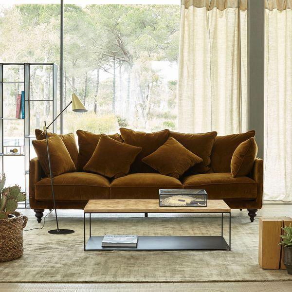 1000 id es sur le th me canap en velours sur pinterest. Black Bedroom Furniture Sets. Home Design Ideas