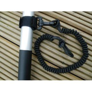 KAYAK PADDLE LEASH (skinny). Keeps Your Paddle Securely Attached to your Kayak or Canoe. Can Also be used for Boat Fishing Rods  Stand Up Paddle Surf Boards. Elasticated Shock Cord. -- Designed by Soles Up Front --