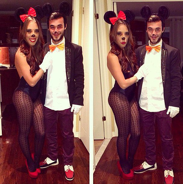 """Sexy Mickey and Minnie Mouse: Just add """"sexy"""" to any cute couples costume, and you're good to go."""