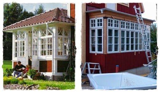 Inspiration till glasveranda och lila salongens fönsterpartiet