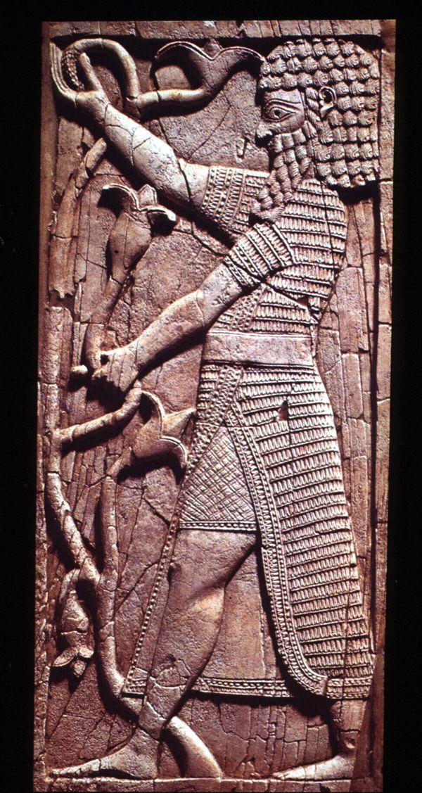 detail of a vegetation figure