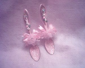 victorian chintz pink spoon rest