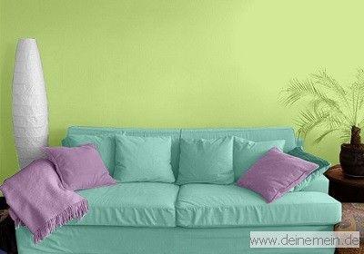 Farbgestaltung Für Ein Wohnzimmer In Den Wandfarben: Pure 02.035.01/Mild  01.014.