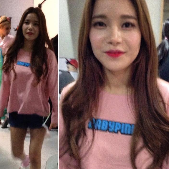 #마마무 #구김스 #베이비핑크 #솔라 #mamamoo #korea #pink #boatneck #tshirts #googims #fashion #brand
