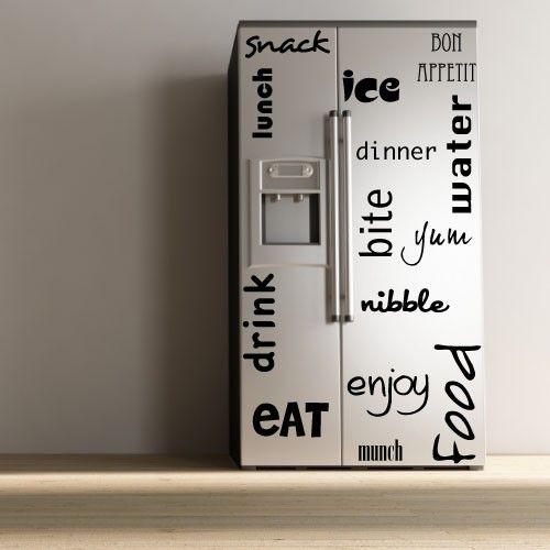 Para los más creativos de la casa, os proponemos estos vinilos decorativos que se pueden poner sin problemas en los #frigoríficos. : ) #deco #gomestic