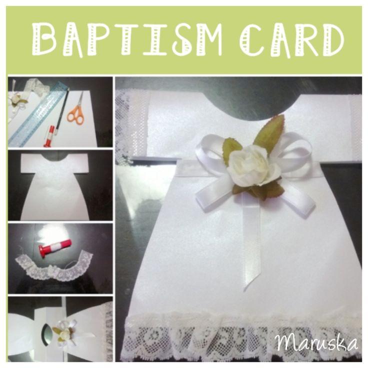 Diy Baptism Card , Biglietto di auguri per Battesimo