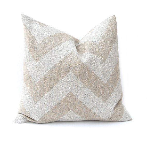 Chevron Decorative Throw Pillow Cover Tan by FestiveHomeDecor Burlap Pillows Zippy Premier Prints, $19.00