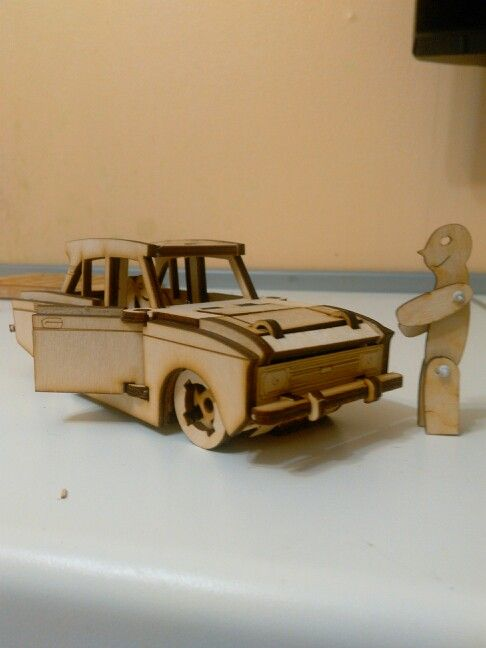 1976 Moskwitch 2140 (USSR) Toy car of Zabavagrad series.