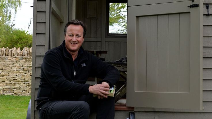 The former prime minister says he wants to use the shepherd's hut to write a book.