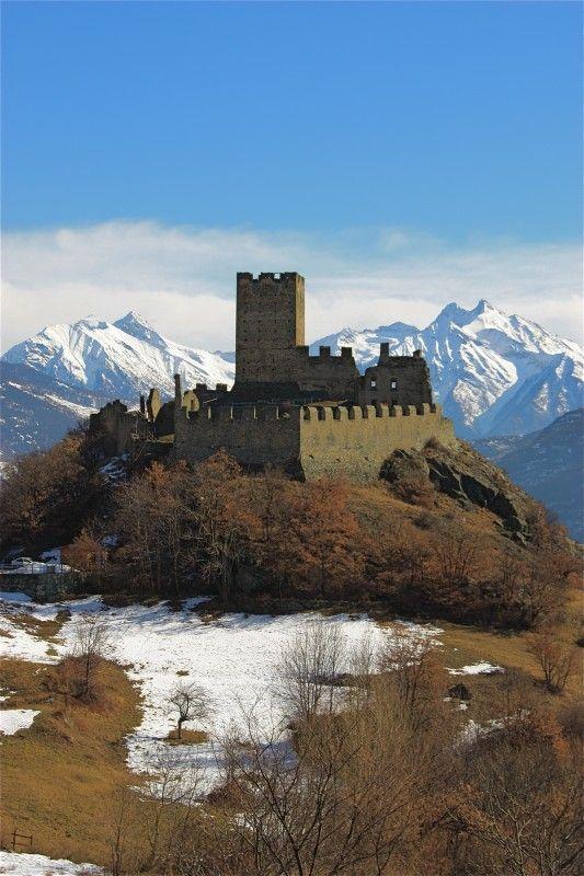 Cly castle, Saint-Denis, Valle d'Aosta,region of Valle d'Aosta  Italy