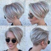 krótki stylowy bob, najmodniejsza fryzura